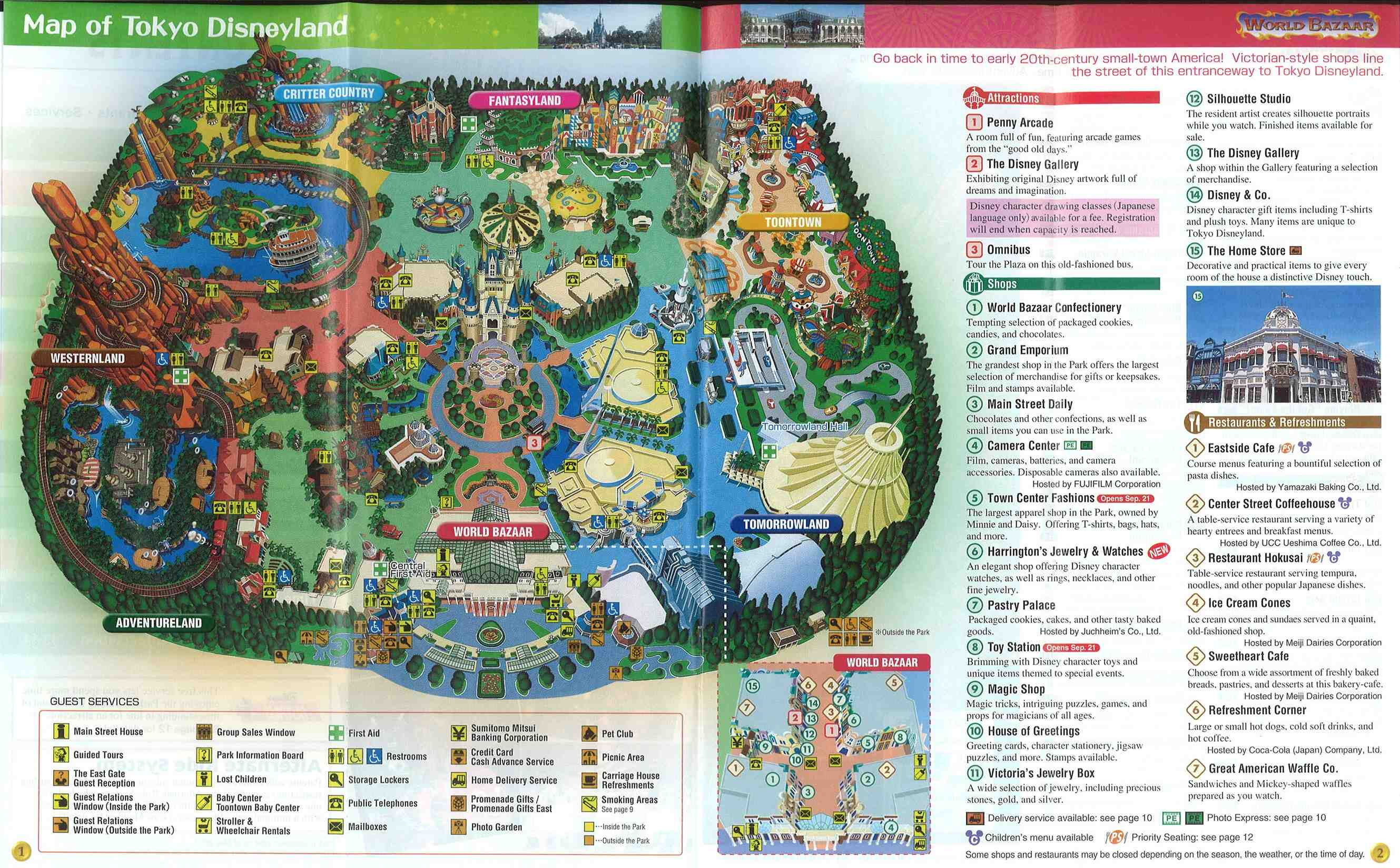 Disneyland Locations World Map.Tokyo Disney Resort Maps And Story Papers