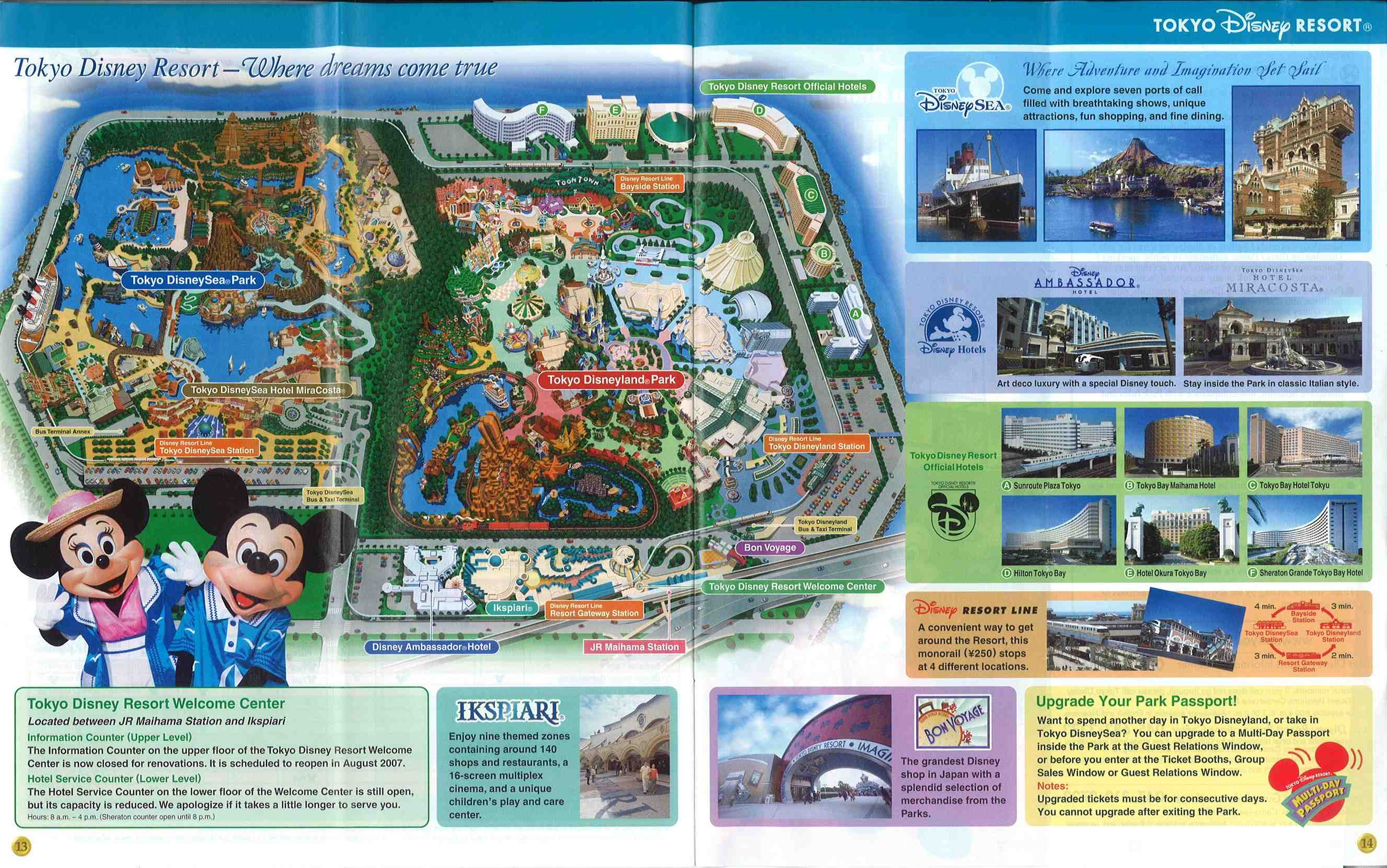 Tokyo Disney Resort Maps And Story Papers